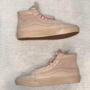 Vans Ultracush pink leather high top SK8-Hi shoes